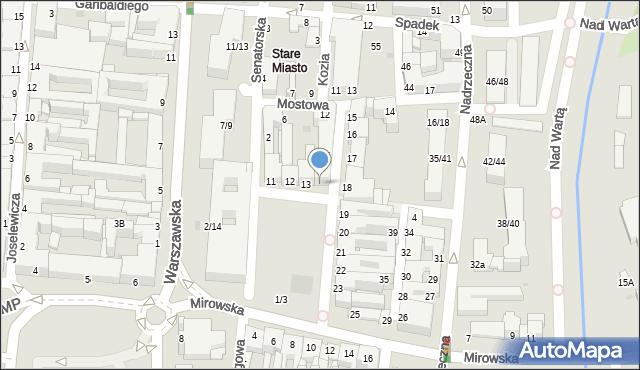 Częstochowa, Stary Rynek, 14, mapa Częstochowy