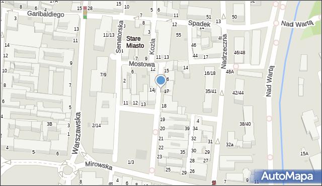 Częstochowa, Stary Rynek, 14c, mapa Częstochowy