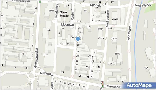 Częstochowa, Stary Rynek, 18, mapa Częstochowy