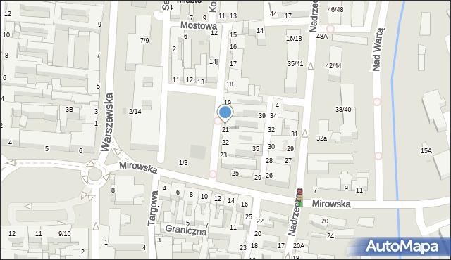 Częstochowa, Stary Rynek, 21, mapa Częstochowy
