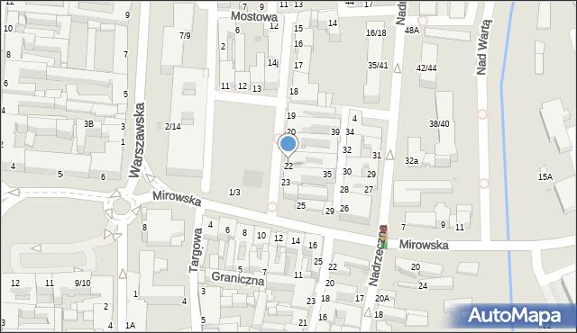 Częstochowa, Stary Rynek, 22, mapa Częstochowy