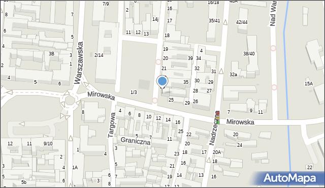 Częstochowa, Stary Rynek, 24, mapa Częstochowy