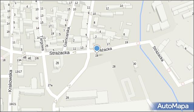 Częstochowa, Strażacka, 14, mapa Częstochowy
