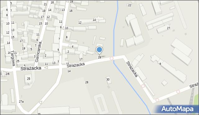 Częstochowa, Strażacka, 19, mapa Częstochowy