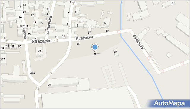 Częstochowa, Strażacka, 28, mapa Częstochowy