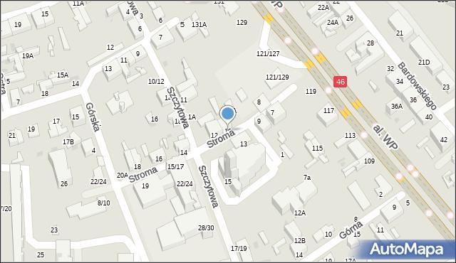 Częstochowa, Stroma, 10, mapa Częstochowy