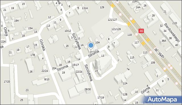 Częstochowa, Stroma, 12, mapa Częstochowy