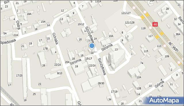 Częstochowa, Stroma, 14, mapa Częstochowy