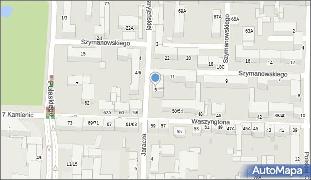 Częstochowa, Stryjeńskiej Zofii, 5, mapa Częstochowy