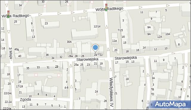 Gdynia, Starowiejska, 24, mapa Gdyni