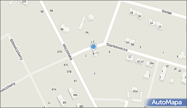 Gdynia, Stankiewicza Mamerta, kpt., 6, mapa Gdyni