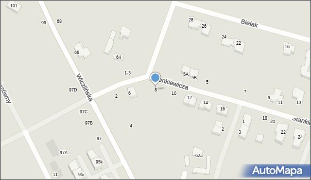 Gdynia, Stankiewicza Mamerta, kpt., 8, mapa Gdyni