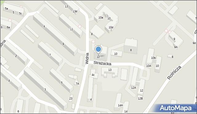 Gdynia, Strażacka, 12, mapa Gdyni