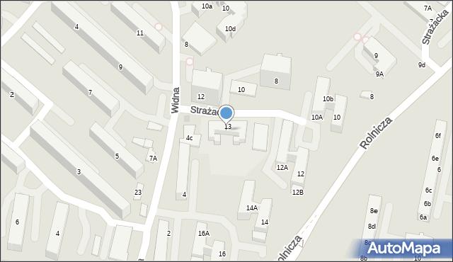 Gdynia, Strażacka, 15, mapa Gdyni