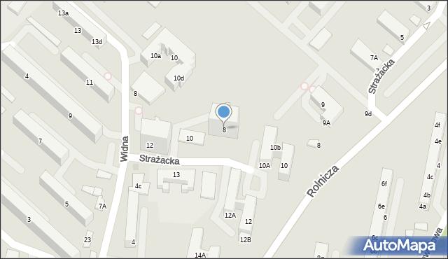 Gdynia, Strażacka, 8, mapa Gdyni