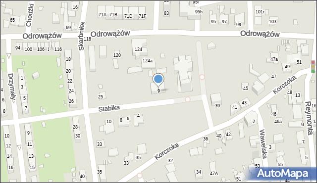 Gliwice, Stabika Antoniego, 9, mapa Gliwic