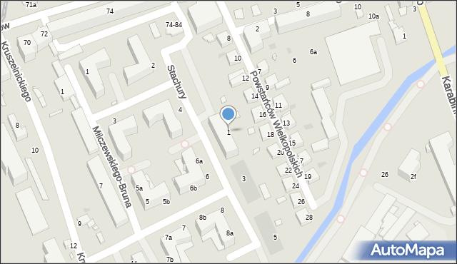Grudziądz, Stachury Edwarda, 1, mapa Grudziądza
