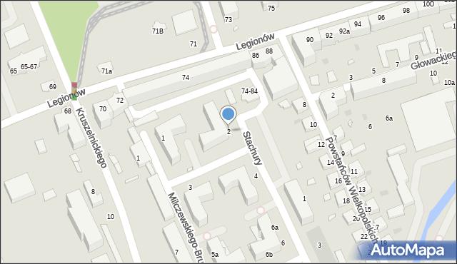 Grudziądz, Stachury Edwarda, 2, mapa Grudziądza