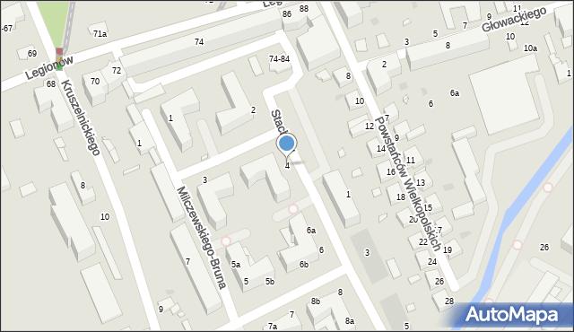 Grudziądz, Stachury Edwarda, 4, mapa Grudziądza