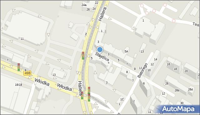 Grudziądz, Staszica Stanisława, 2, mapa Grudziądza