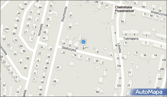 Grudziądz, Stefczyka, 8, mapa Grudziądza