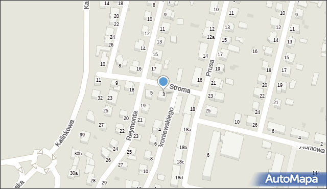 Grudziądz, Stroma, 3, mapa Grudziądza