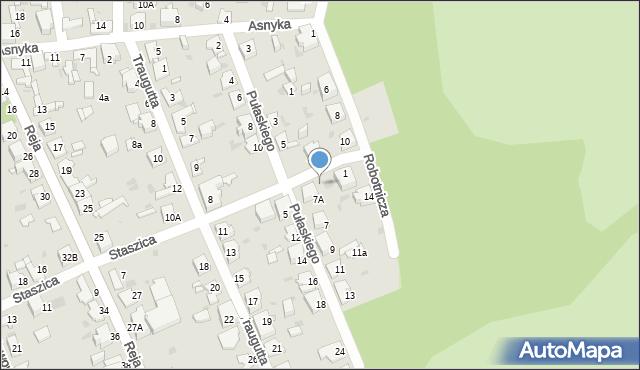 Jaworzno, Staszica Stanisława, 1b, mapa Jaworzno