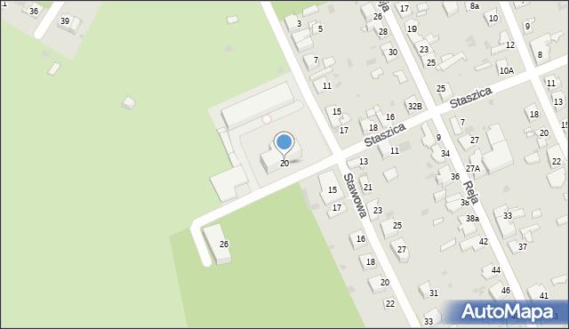Jaworzno, Staszica Stanisława, 20, mapa Jaworzno