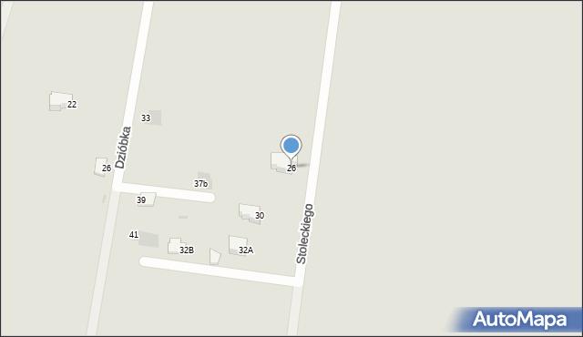 Jaworzno, Stoleckiego Kazimierza, 26, mapa Jaworzno