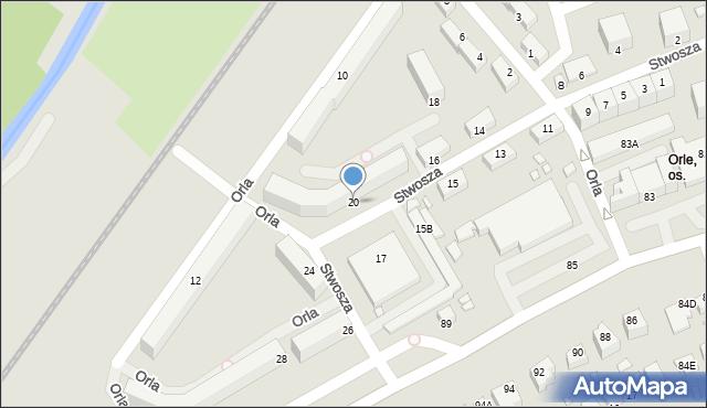 Jelenia Góra, Stwosza Wita, 20, mapa Jelenia Góra
