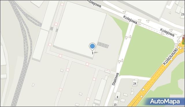 Katowice, Stalowa, 1, mapa Katowic