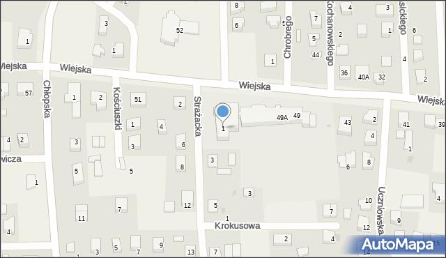 Kębłowo, Strażacka, 1, mapa Kębłowo