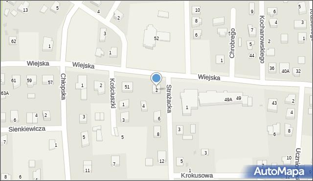 Kębłowo, Strażacka, 2, mapa Kębłowo