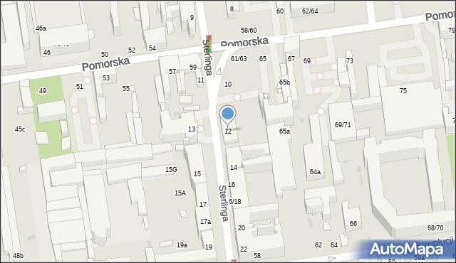 Łódź, Sterlinga Seweryna, dr., 12, mapa Łodzi