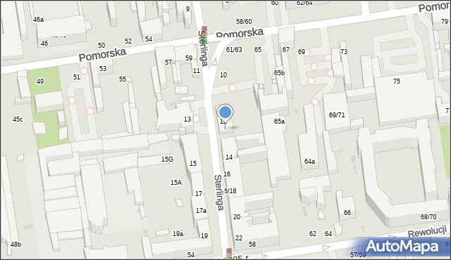 Łódź, Sterlinga Seweryna, dr., 12A, mapa Łodzi