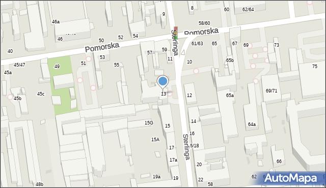 Łódź, Sterlinga Seweryna, dr., 13, mapa Łodzi