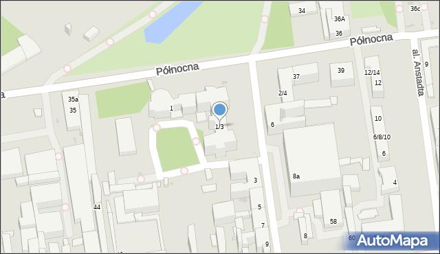 Łódź, Sterlinga Seweryna, dr., 1/3, mapa Łodzi