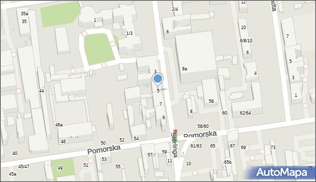 Łódź, Sterlinga Seweryna, dr., 5, mapa Łodzi