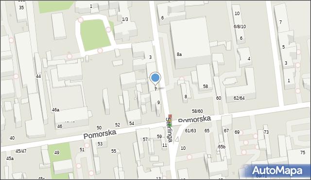 Łódź, Sterlinga Seweryna, dr., 7, mapa Łodzi