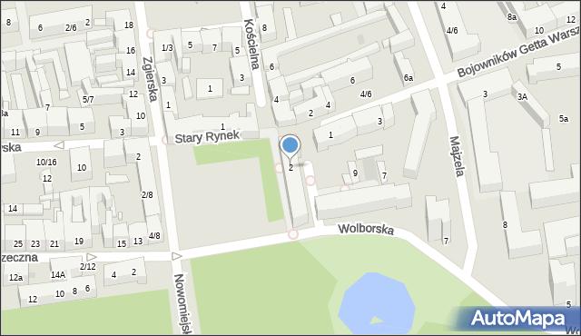 Łódź, Stary Rynek, 2, mapa Łodzi