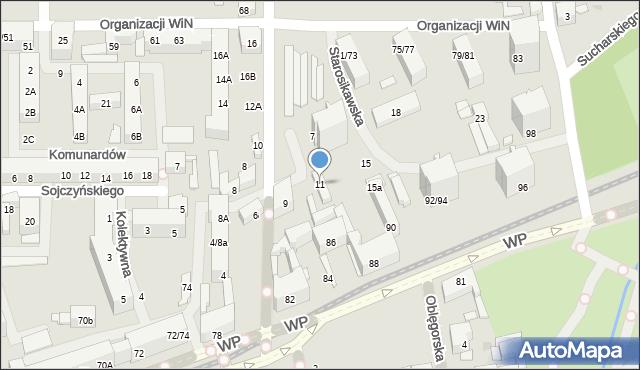 Łódź, Starosikawska, 11, mapa Łodzi