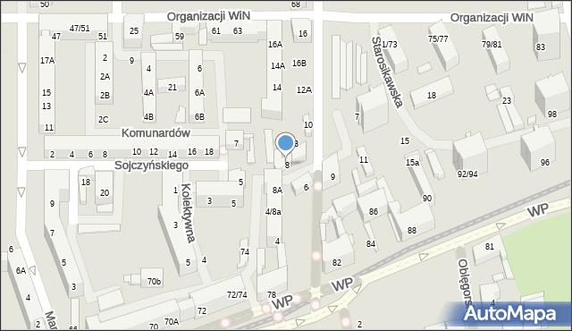 Łódź, Starosikawska, 8, mapa Łodzi