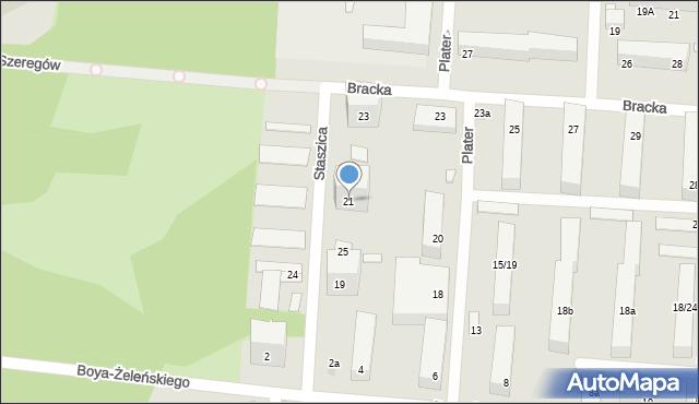 Łódź, Staszica Stanisława, 21, mapa Łodzi