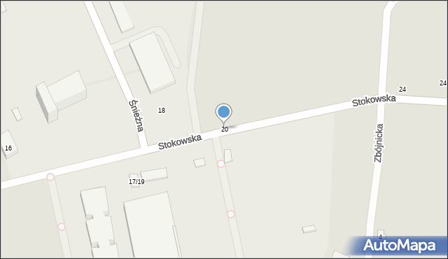 Łódź, Stokowska, 20, mapa Łodzi