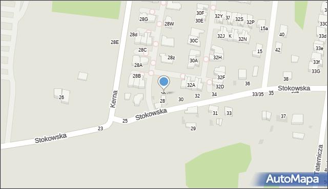 Łódź, Stokowska, 28v, mapa Łodzi