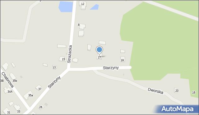 Lubaczów, Starzyny, 17, mapa Lubaczów
