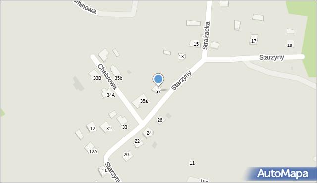 Lubaczów, Starzyny, 37, mapa Lubaczów