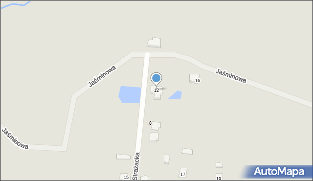 Lubaczów, Strażacka, 12, mapa Lubaczów