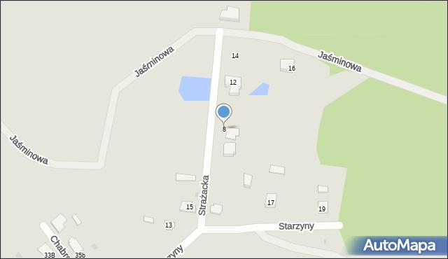 Lubaczów, Strażacka, 8, mapa Lubaczów