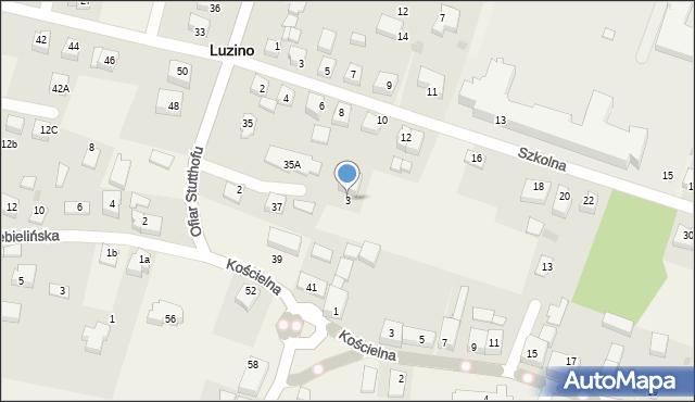 Luzino, Strażacka, 3, mapa Luzino